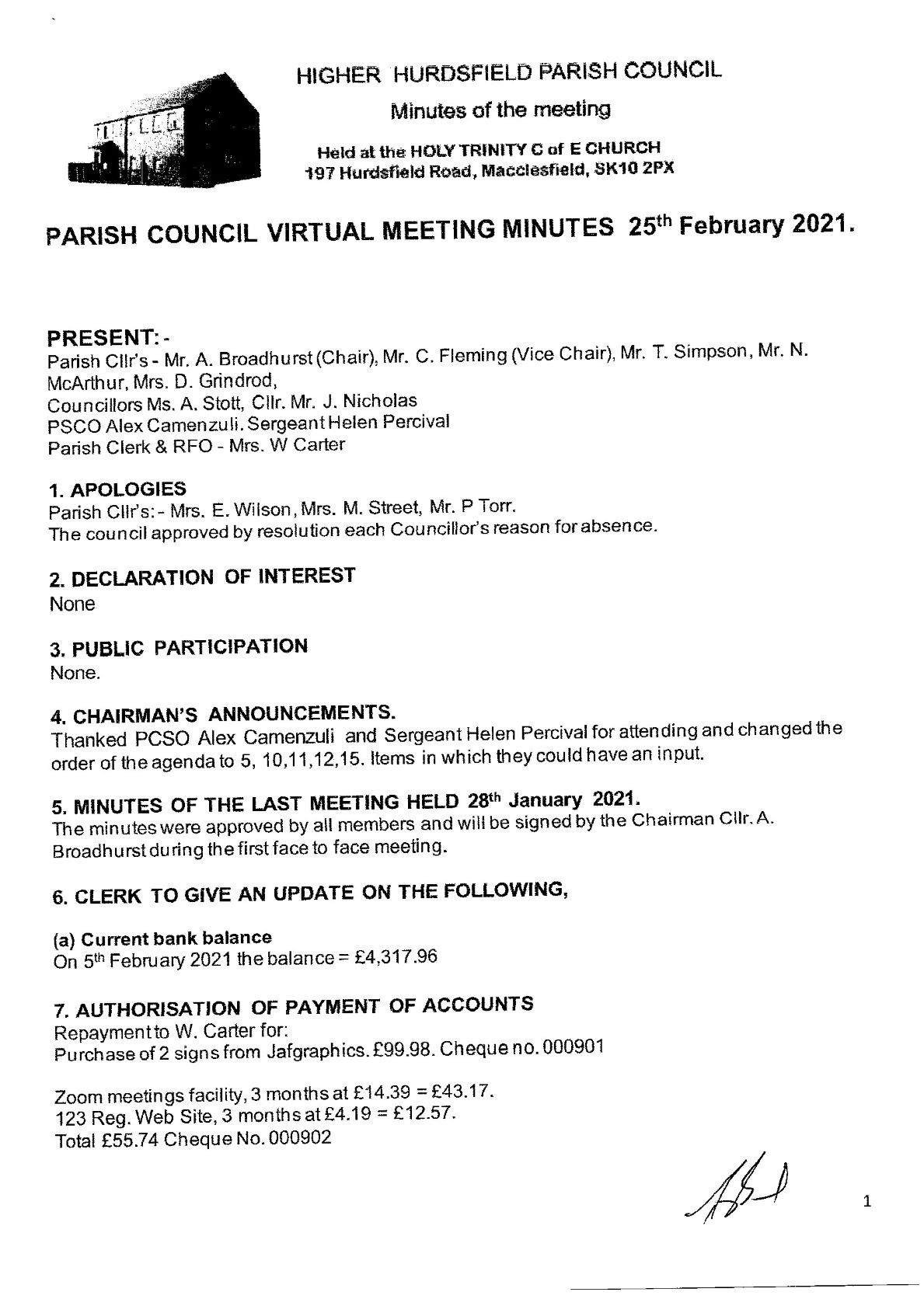Signed Meeting Minutes 1 of 4