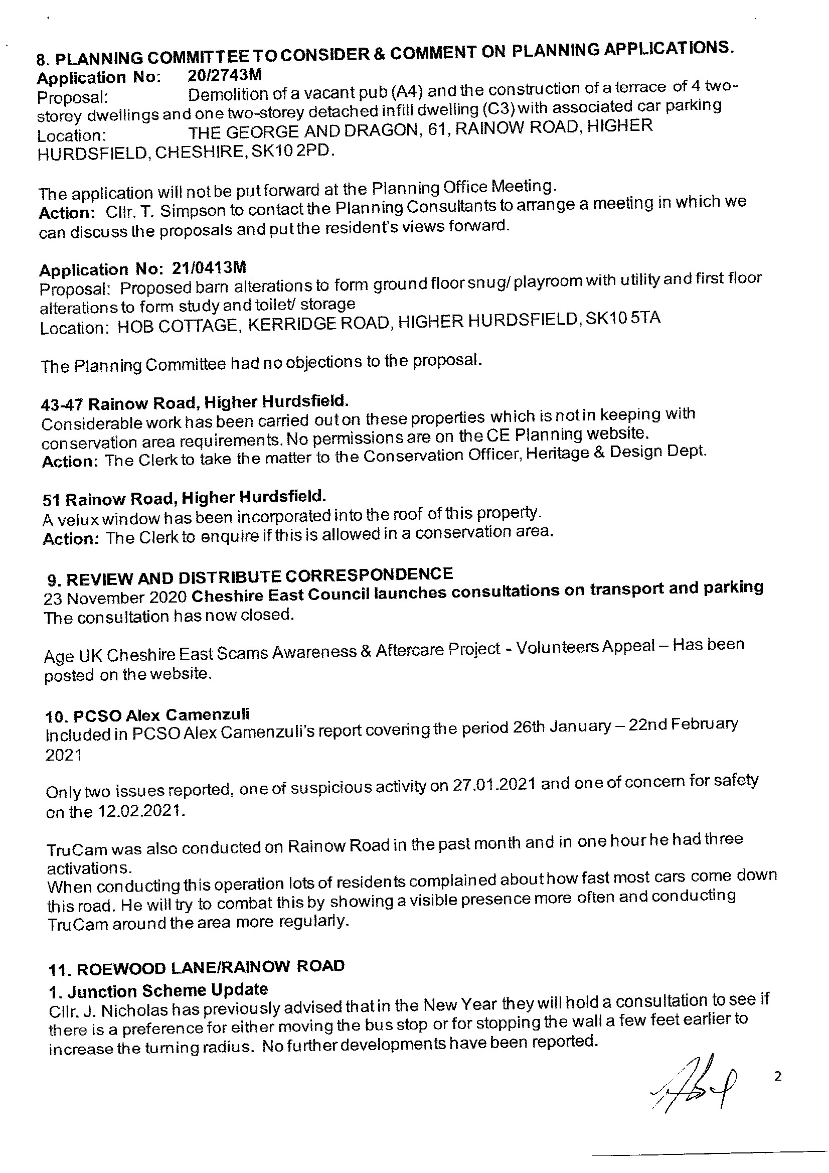 Signed Meeting Minutes 2 of 4